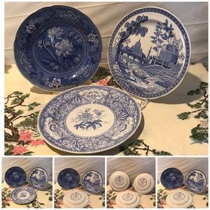 Spode set of 3 blue room collect decorative plates
